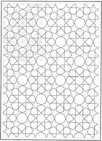 五角星六边形拼接花纹