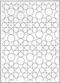 五角星六边形线条花纹