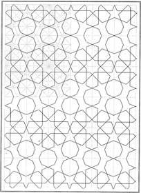 五角星虚线花纹