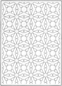 虚线几何线框花纹