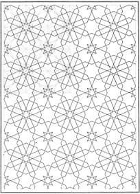 虚线重叠镂空花纹
