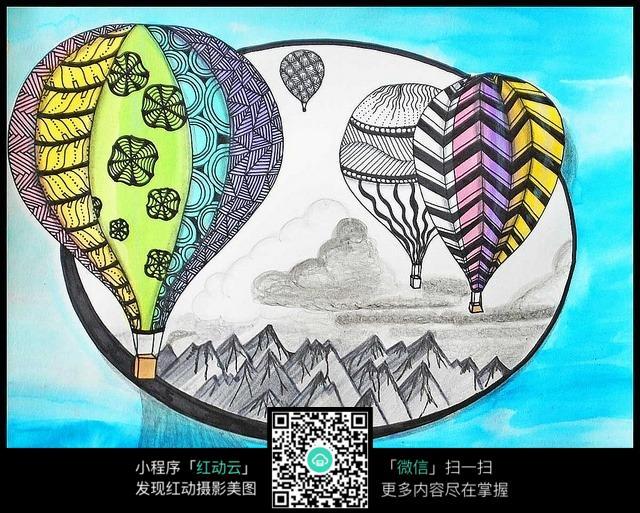 一副完整的创意手绘插画图图片