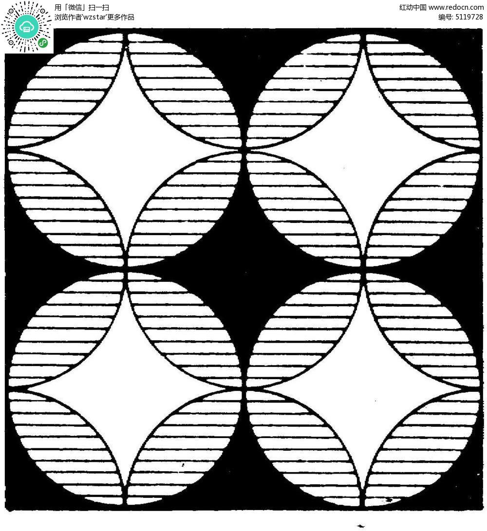 圆形创意线行图案设计图片