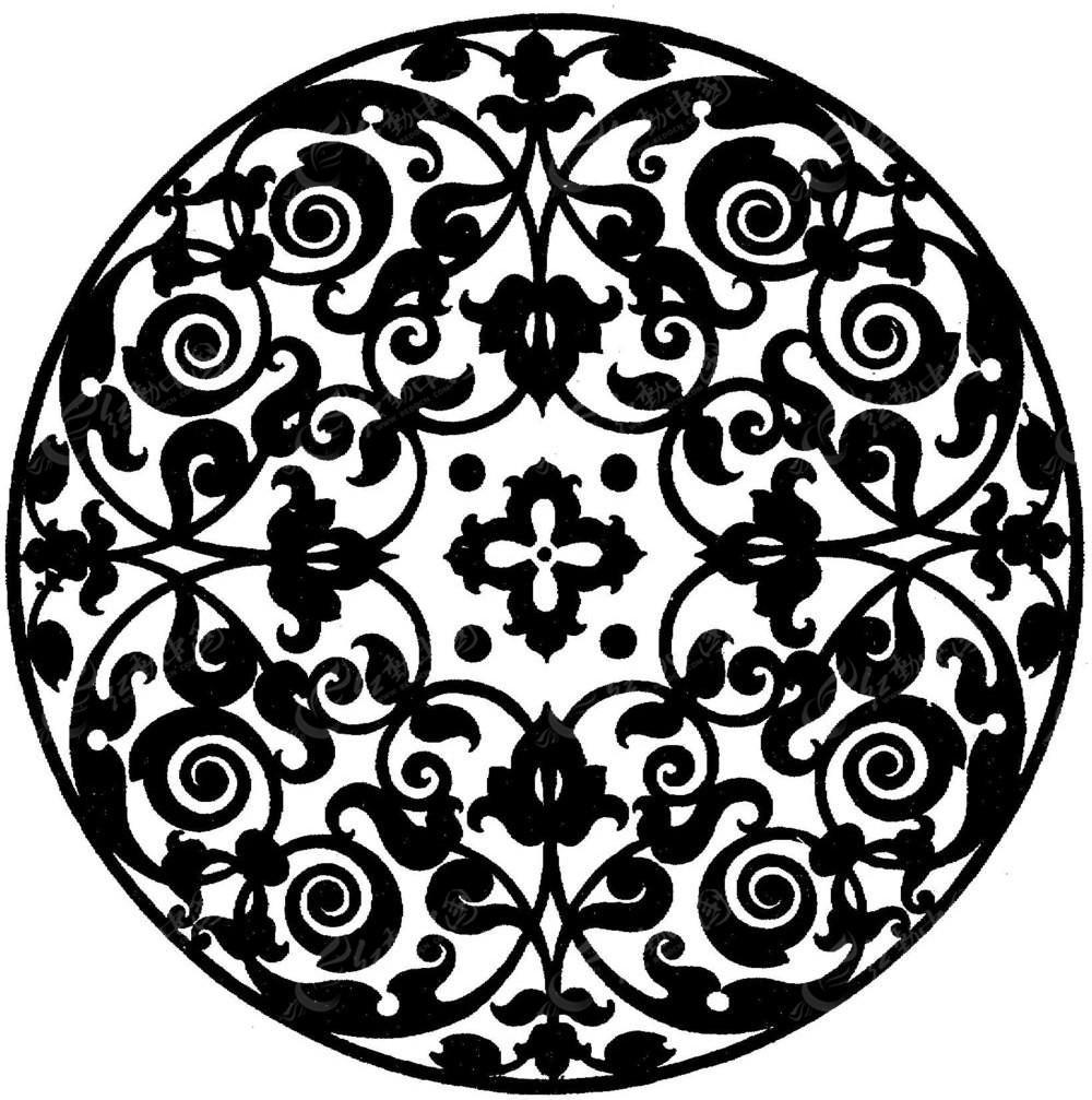 圆形对称古典花纹图片图片