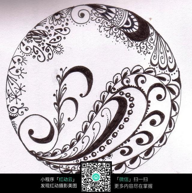 圆形中心多样化插画设计