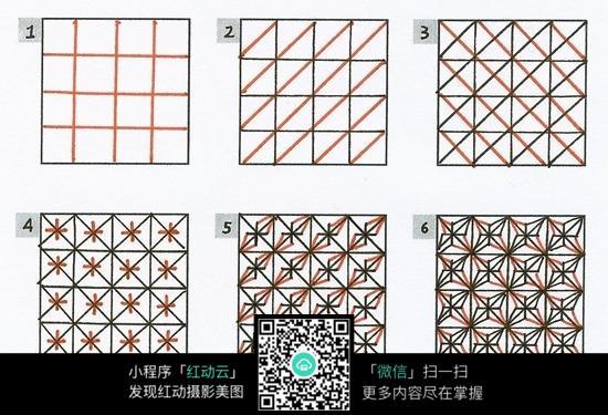 正方形格子花纹