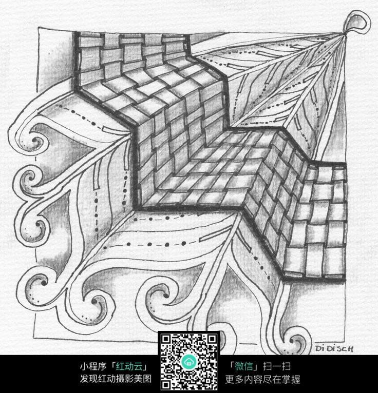 免费素材 图片素材 漫画插画 其他 纸张折叠花纹  请您分享: 素材描述图片
