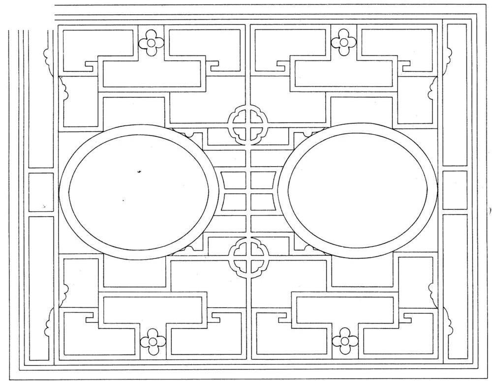 长方形对称创意镂空花纹图案图片
