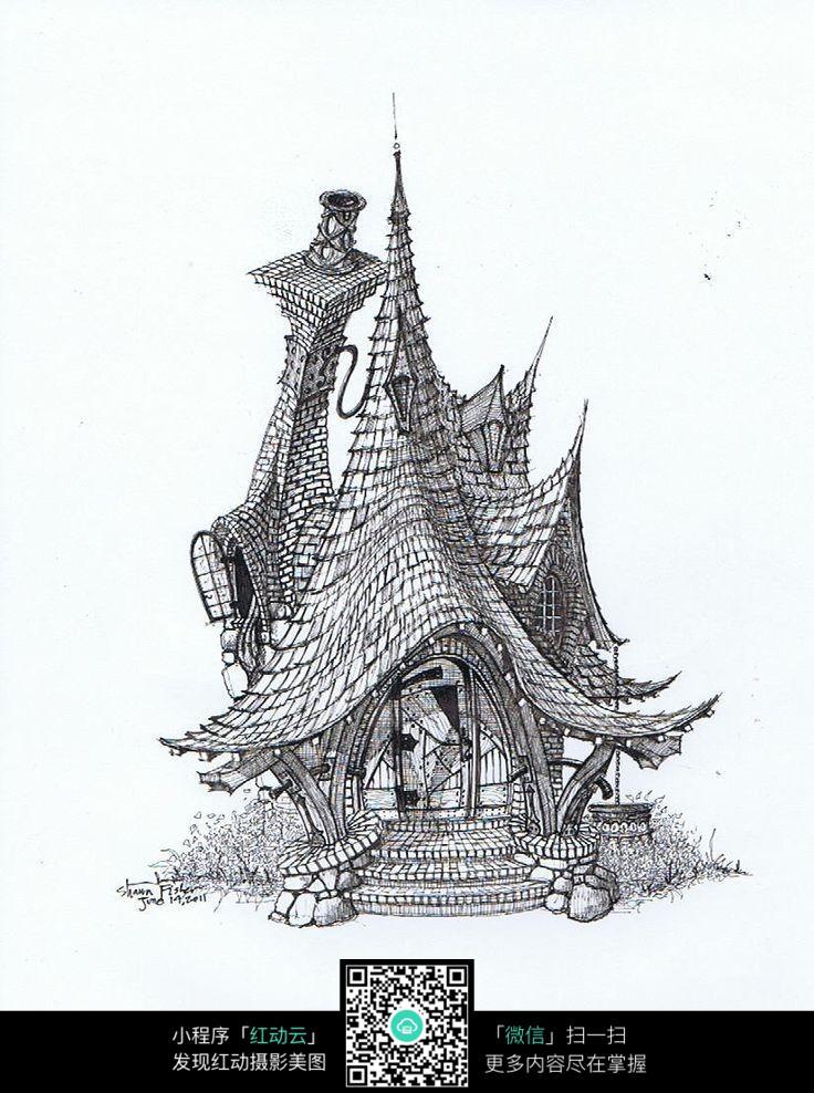 房屋建筑手绘图 其他图片 红动手机版