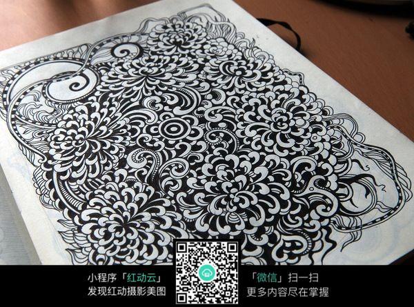 复杂花纹手绘图案