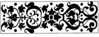 黑白对称花边