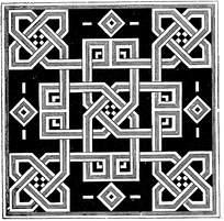 黑白几何对称花纹