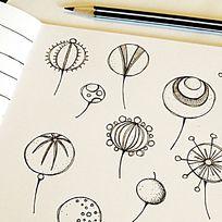 画本上的简单手绘图案设计