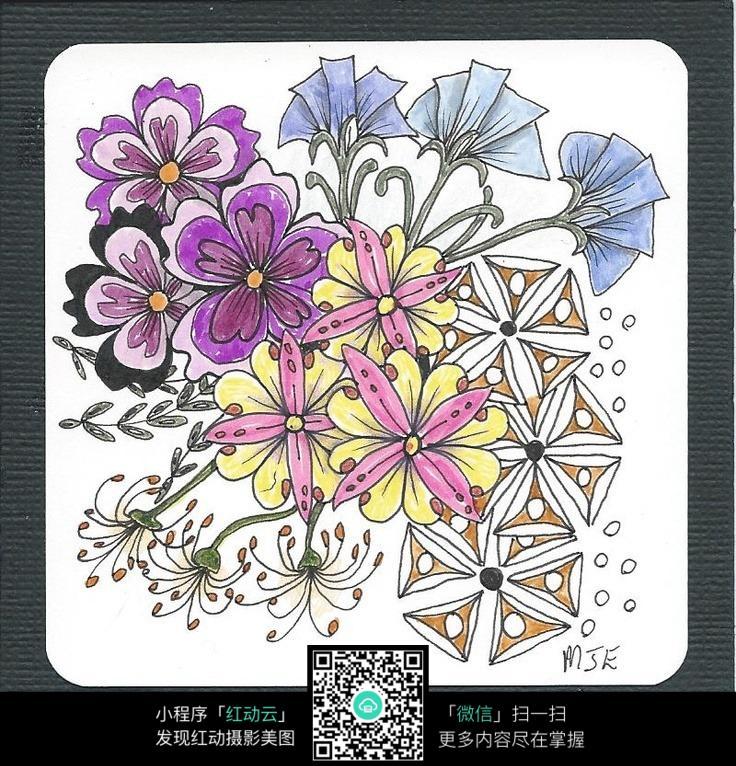 简笔手绘花朵图片
