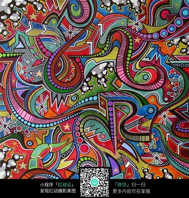 几何 彩色 拼接 创意