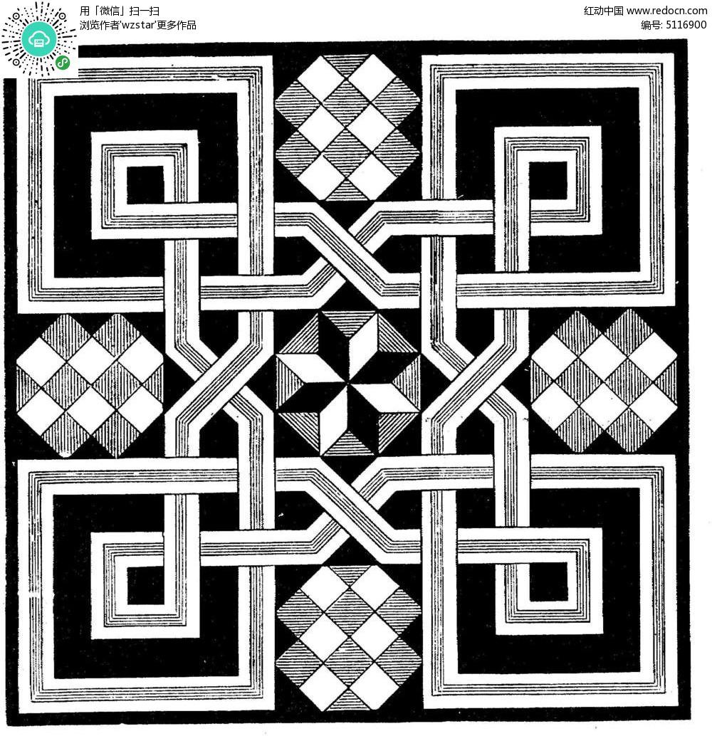 几何拼图花纹图片