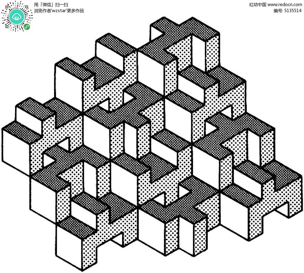 空间立体构成图 几何 立体 图形