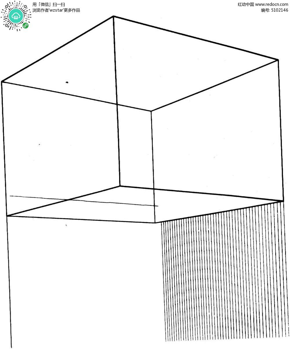 免费素材 psd素材 室内装饰 隔断|雕刻图案 立体柱状线条图  请您分享