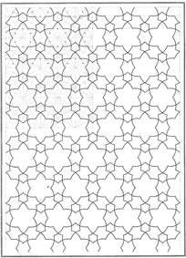 六角星装饰拼花