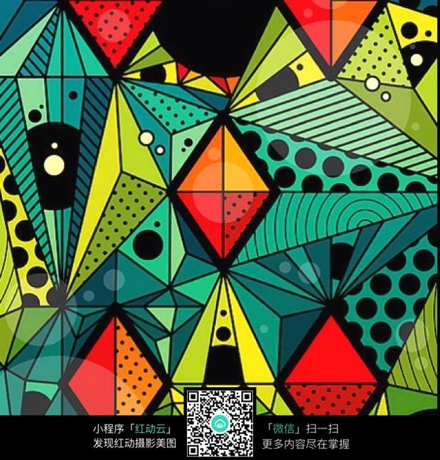 色块 图形 图案 抽象 元素 手绘 彩色 构成 艺术