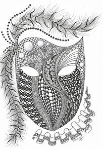 神秘面具图案
