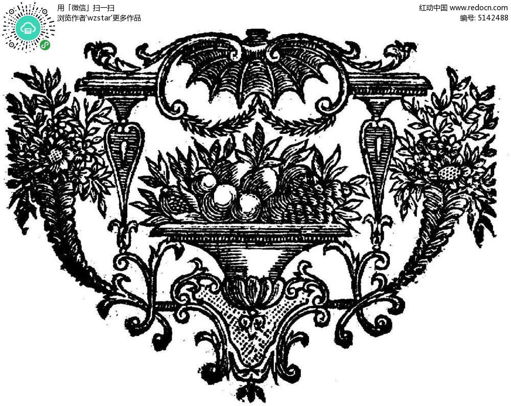 古代饰品素材手绘