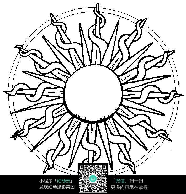 太阳纹饰图案_其他装饰图片