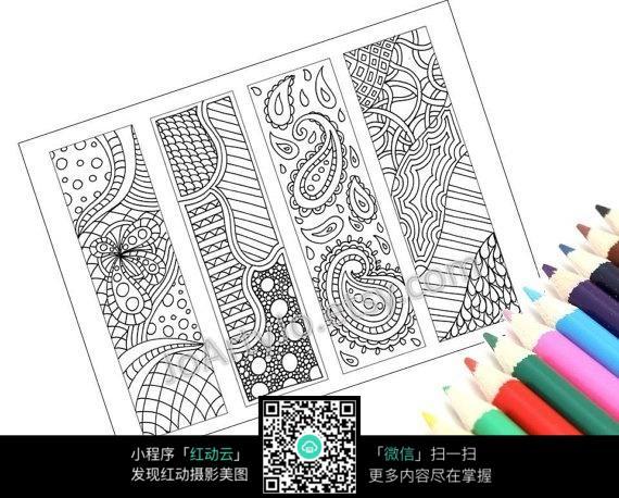 纹理方形手绘插画