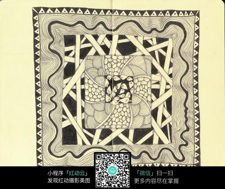 纹理花纹手绘插画