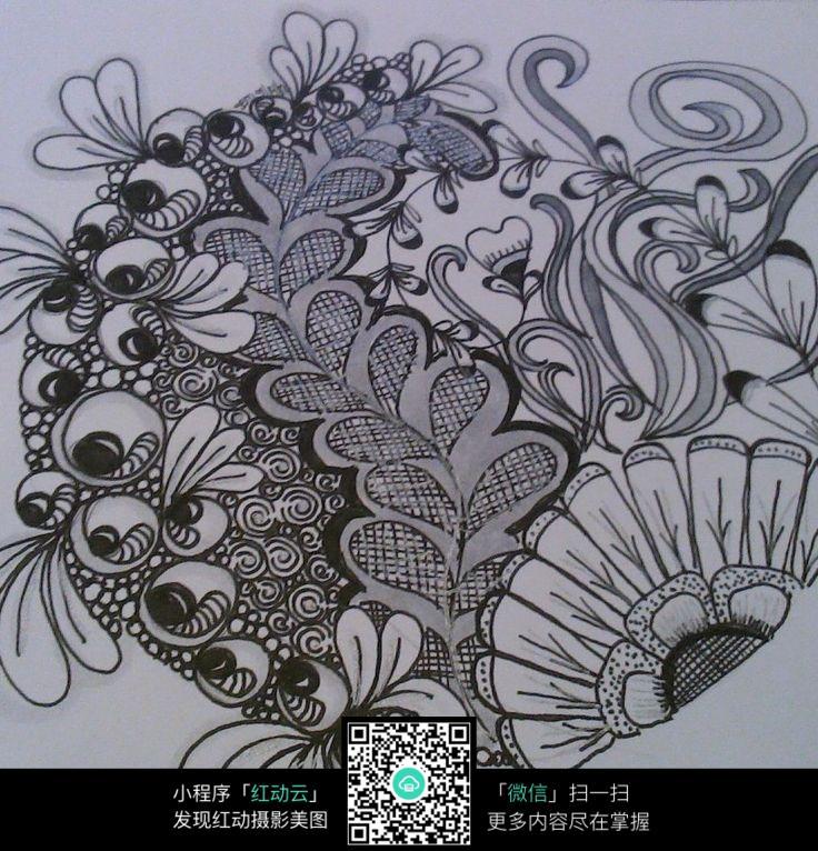 向日葵手绘插画纹理图片