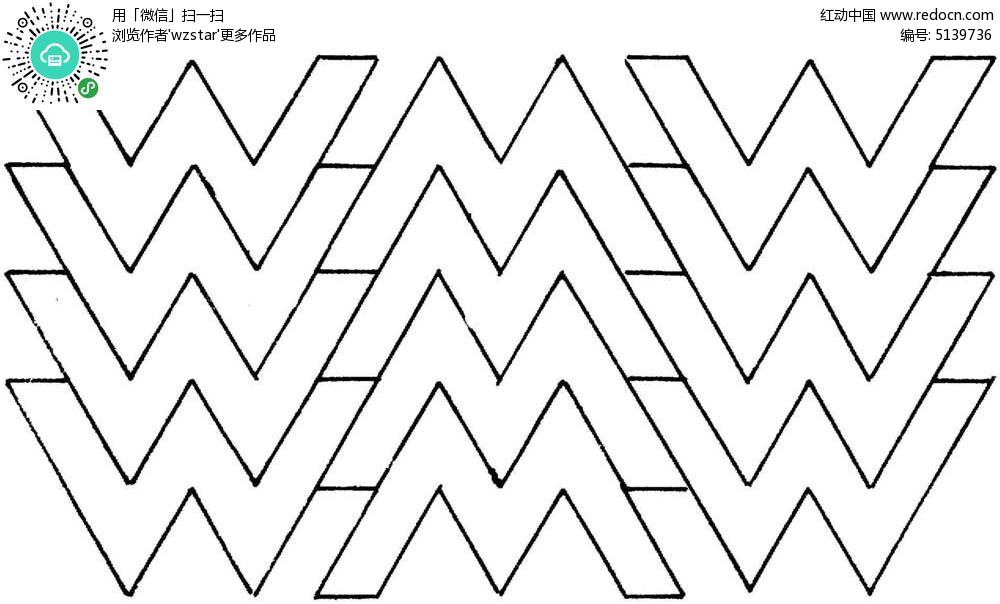 线条折线图案