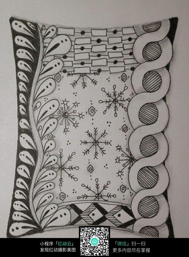 雪花图案花纹图片