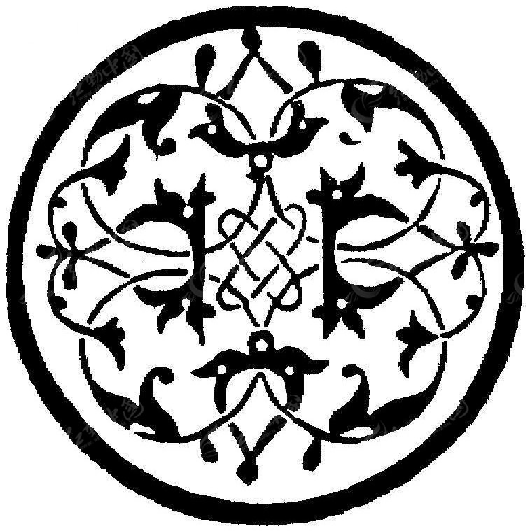 圆形对称镂空花纹 古典花边花纹图片