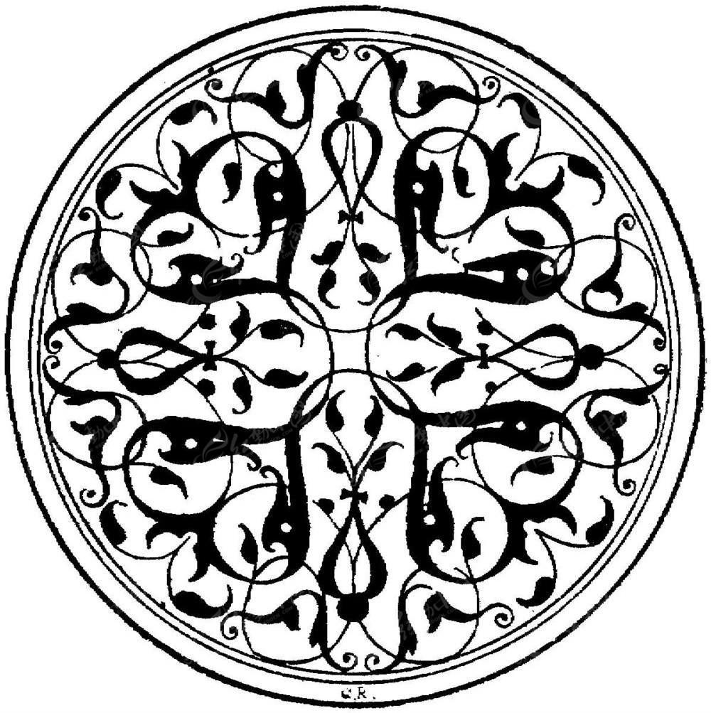 圆形欧式装饰花纹图片图片