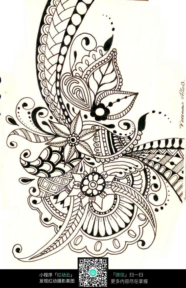 自由美丽的花纹图案图片