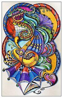 抽象的色彩构成
