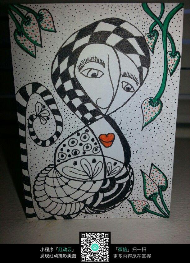 创意人物手绘插图设计稿