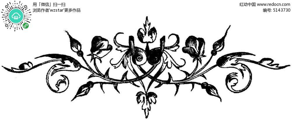 对称植物花朵花纹TIF素材免费下载 编号5143730 红动网