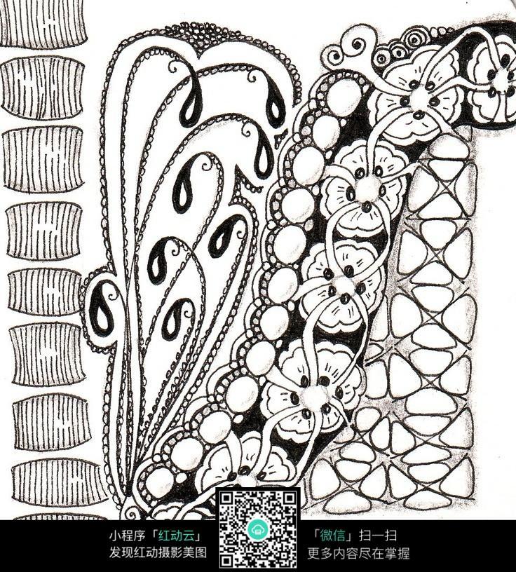 黑白手绘背景个性网
