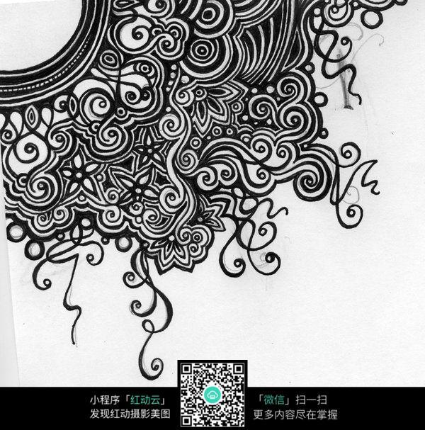 型手绘花纹排线jpg格式图片素材