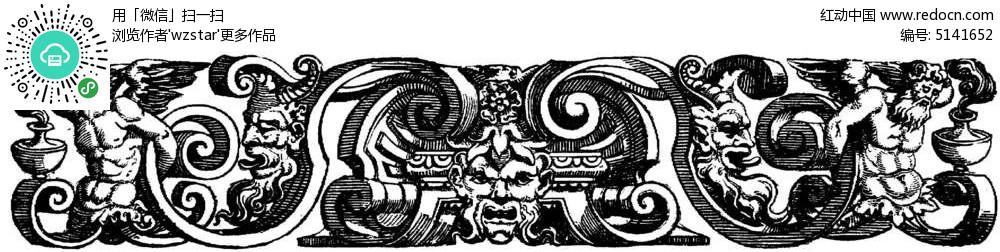 欧式建筑浮雕花纹