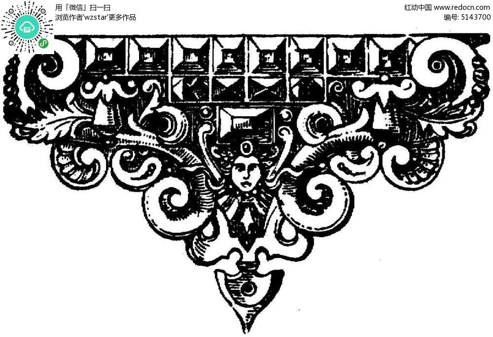 欧式建筑花纹