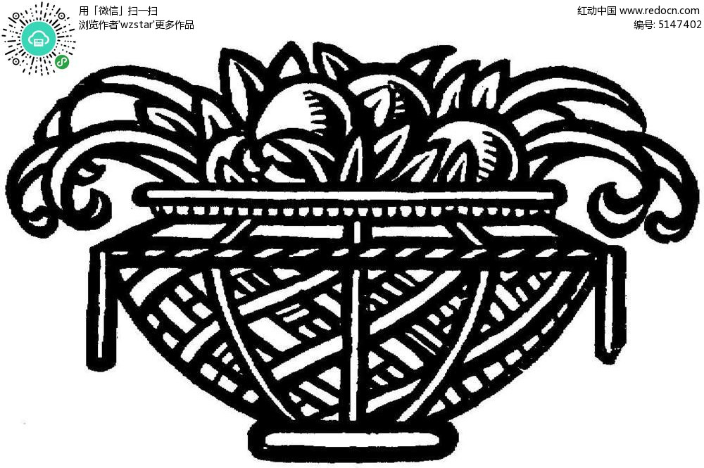 手绘花卉插图