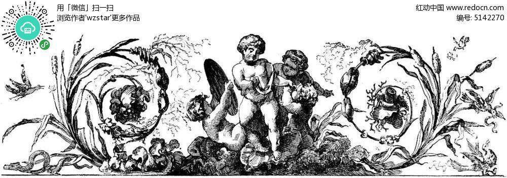 手绘天使故事插图