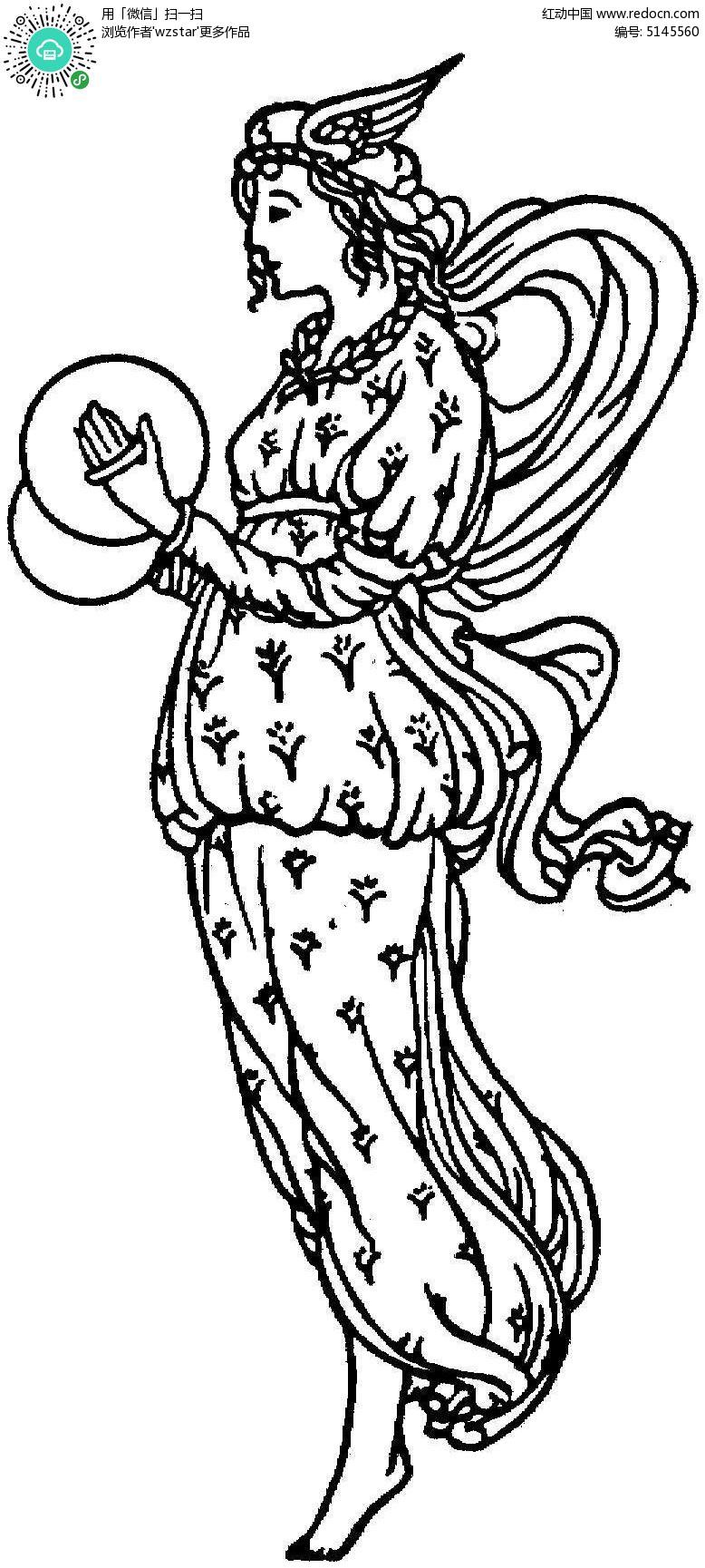 手绘仙女简笔画