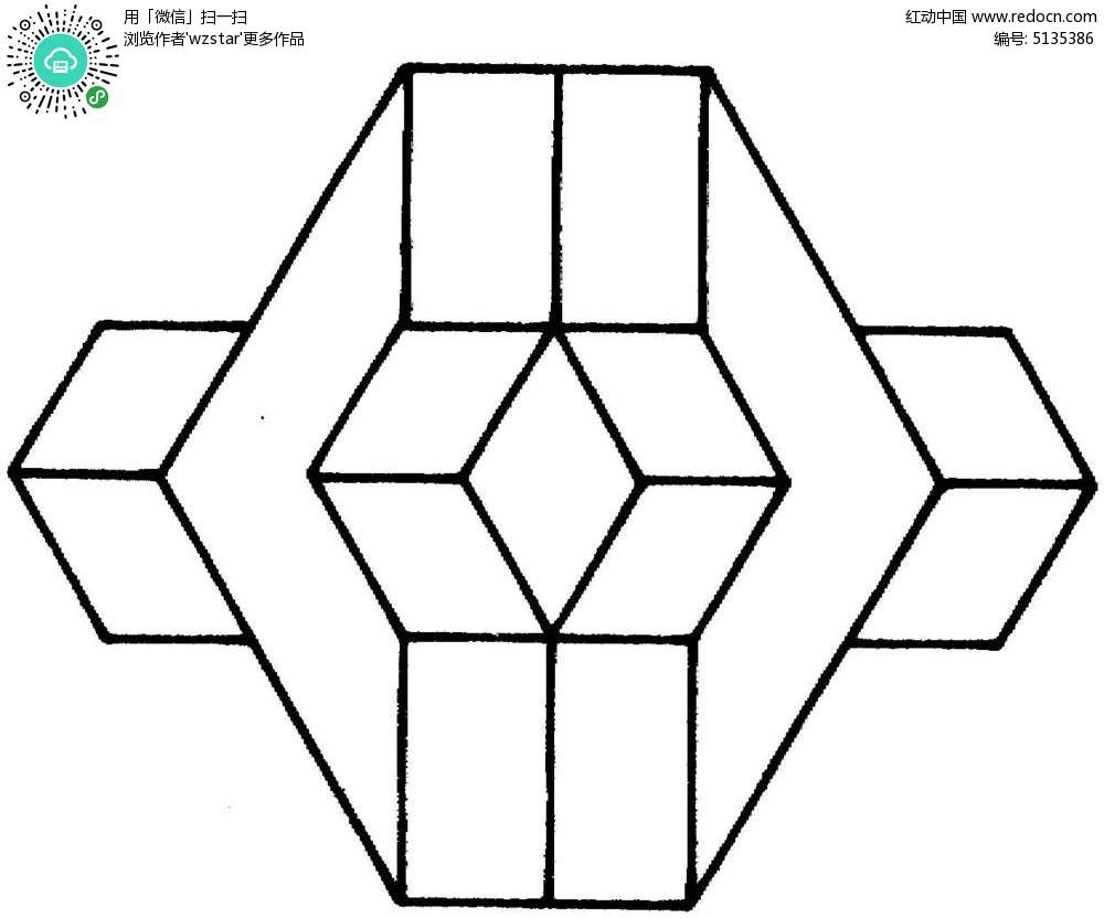 凹凸几何立体图形图片
