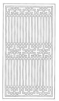 长条方形镂空花纹