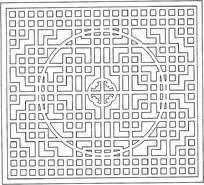 方圆镂空窗户花纹