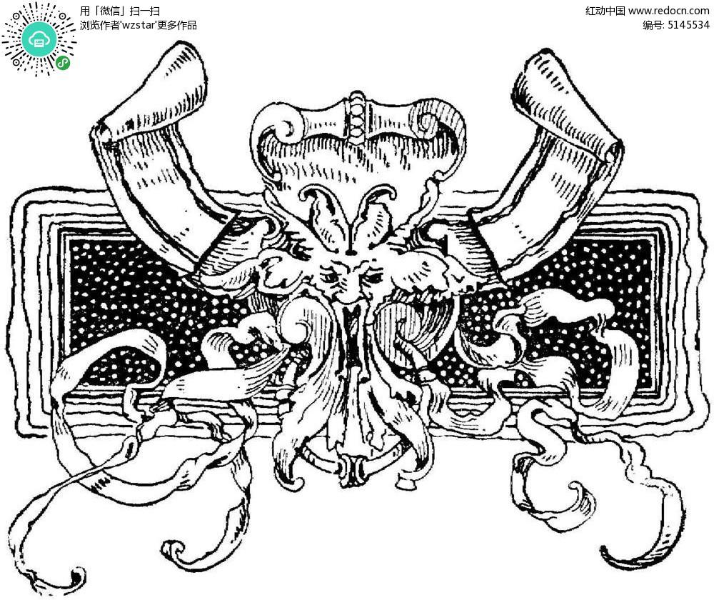 插画设计 插图 黑白 雕刻参考图  花卉雕刻  手绘 扫描图 打印 浮雕