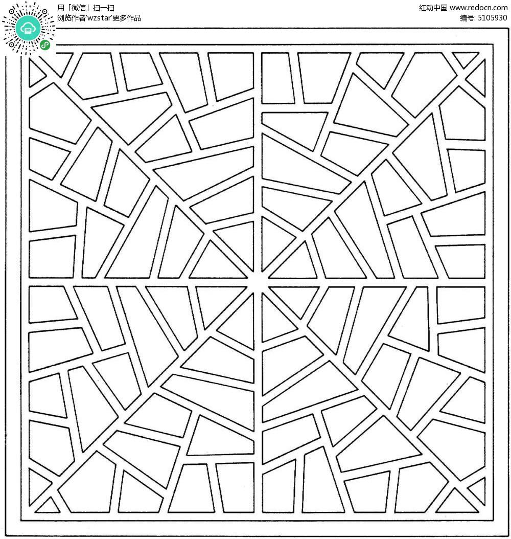 古典四边形镂空花纹TIF素材免费下载 编号5105930 红动网